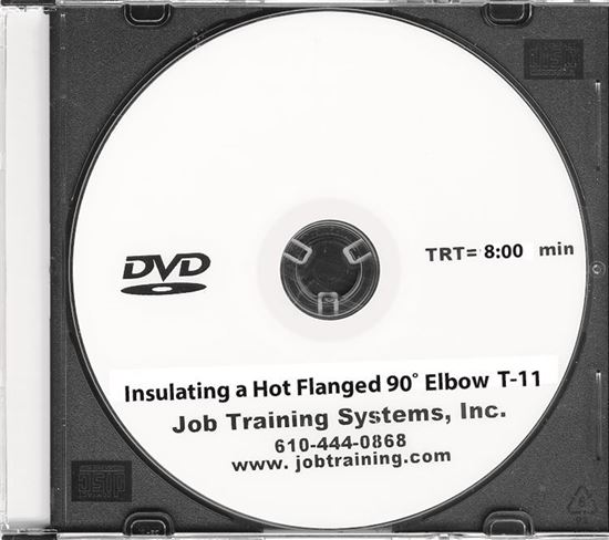 Picture of Insulating a Hot Flanged 90º Elbow - DVD No. T-11